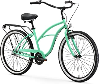 sixthreezero Around The Block Women's 3-Speed Cruiser Bicycle, Mint Green w/ Black Seat/Grips, 26
