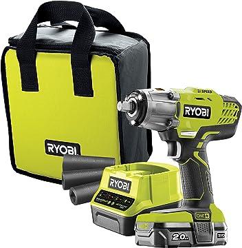 Ryobi R18IW3-120S Impact Wrench Starter Kit