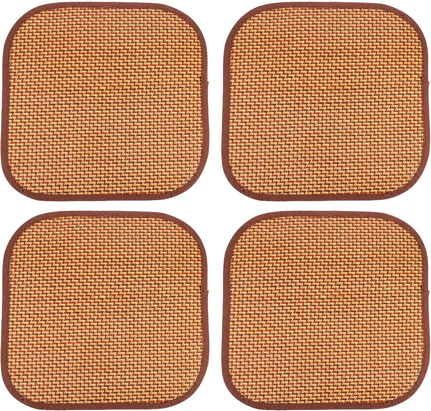 4pcs Grass Rattan Self Cooling Plate Mat Guinea Hamster Pig for 2021new shipping Los Angeles Mall free