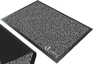 VOUNOT Tapis de Porte Paillasson d'Entree Interieur et Extérieur Tapis Antidérapant et Anti-Poussière Tapis d'entrée Imperméable Lavable 90x120cm Anthracite