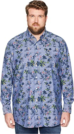 Big & Tall Large Palm Print Shirt