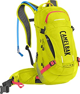 CamelBak M.U.L.E. Low Rider Protector 15 Bike 3L Backpacks, Sulfur Springs/Fire Coral, One Size