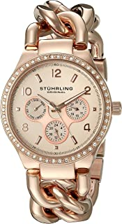 Stuhrling Original Lady Renoir Shine Women's Rose Stainless Steel Watch Set - SET_813S.04_B2R_B1S