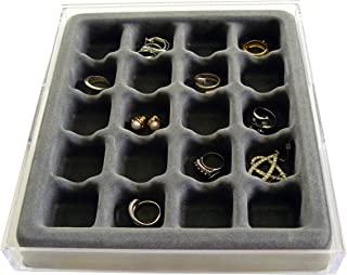 Good Cushion Earring and Ring Jewelry Organizer with Velvet Tray, US Patented
