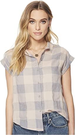 Lucky Brand - Plaid Short Sleeve Top