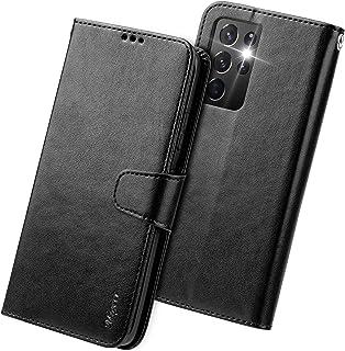 Migeec Funda con Tapa para Samsung Galaxy S21 Ultra 5G con Tarjetero y Bolsillo para Tarjetas de crédito, Color Negro
