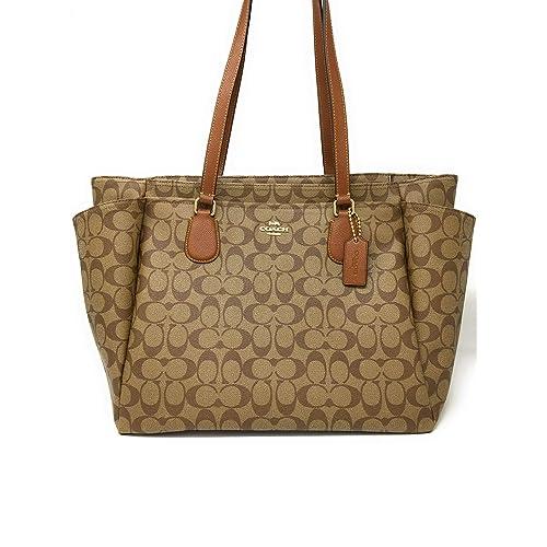 10a35433832f6 Coach Signature Baby Bag 35414 Khaki Saddle