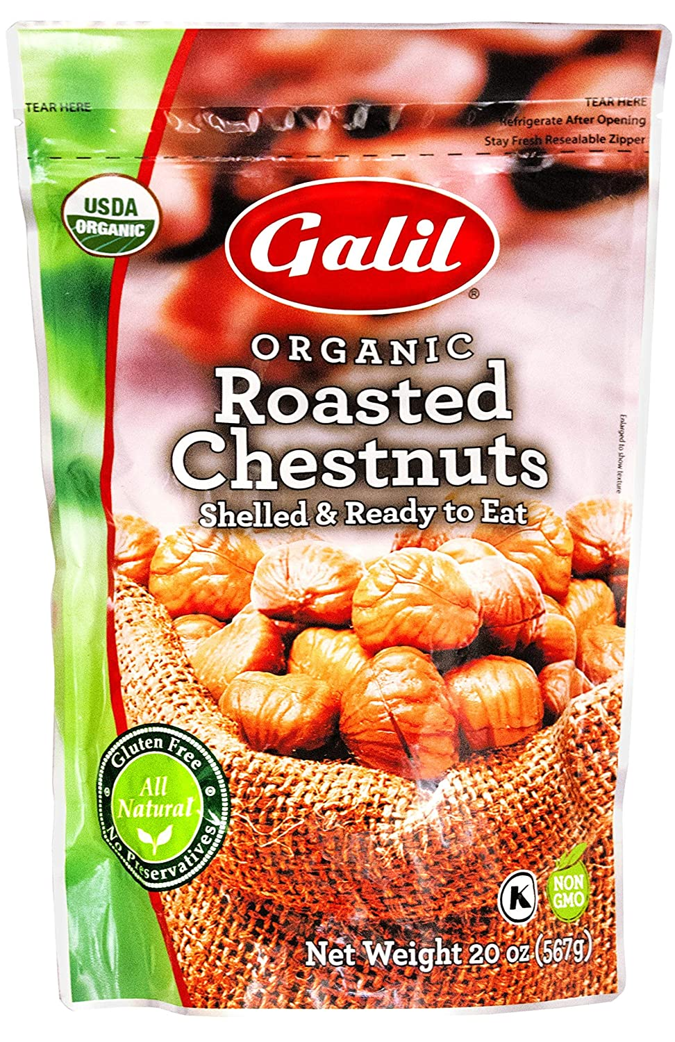 Wholesale Galil Organic Roasted Chestnuts - New mail order 20-Ounce Pack Bags of 3 Sh