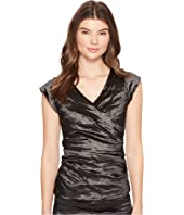 Nicole Miller - Logan Techno Metal V-Neck Top