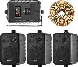4X Speakers Bundle Package: 2 Pairs of Enrock Audio EKMR408B 4-Inch 200 Watts Black 3-Way..