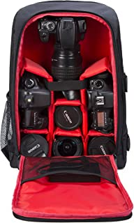 Camera Backpack Waterproof by G-raphy for DSLR/SLR Cameras (Canon, Nikon, Sony and etc), Laptops, Tripods, Flashes, Lenses...