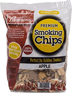 Camerons Products Smoking Chips - (Apple) Kiln Dried, All Natural Coarse Wood Smoker Chunks- 2 Pound Bag Barbecue Chips