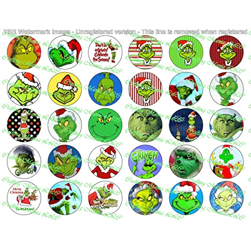 Pre Cut One Inch Bottle Cap Images MERRY CHRISTMAS Free Shipping