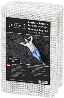 B.PRIME 3x5-Feet Non-Slip Rug Underlay Pad for Hard Floors. Different Size Options Available