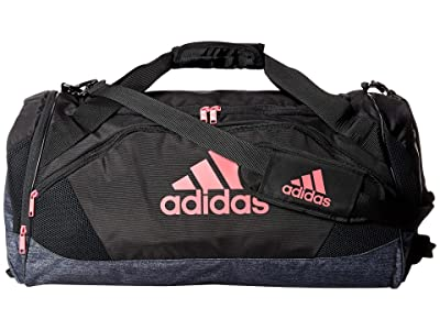 adidas Team Issue II Medium Duffel (Black/Black Jersey/Real Pink) Duffel Bags