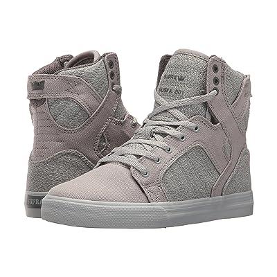 Supra Kids Skytop (Little Kid/Big Kid) (Light Grey/Charcoal/Light Grey) Boys Shoes