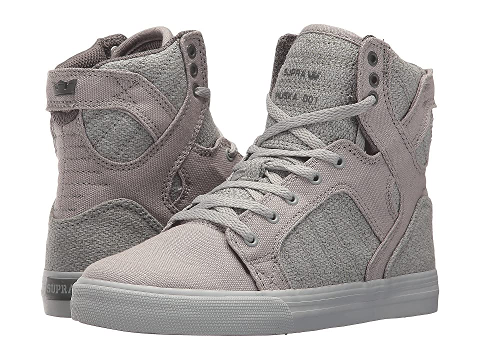 Supra Kids Skytop (Little Kid/Big Kid) (Light Grey/Charcoal/Light Grey) Boys Shoes