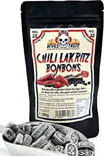 Lakritz Bonbon mit Chili - mittel scharf - Hotskala: 3