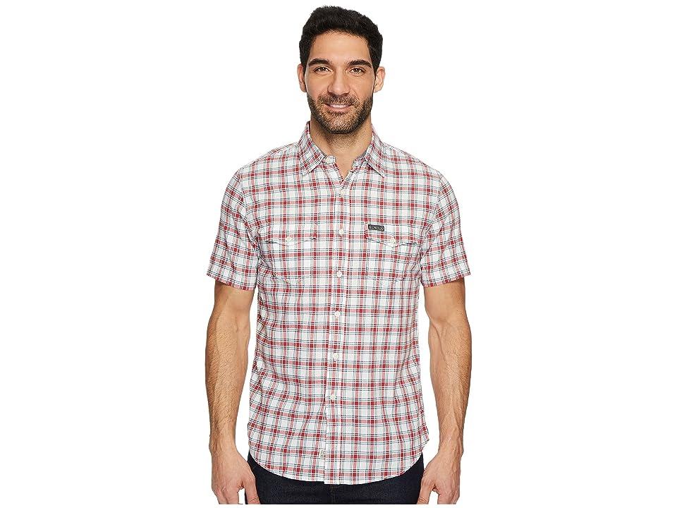 U.S. POLO ASSN. Classic Fit Short Sleeve Sport Shirt (Burgundy Heather) Men