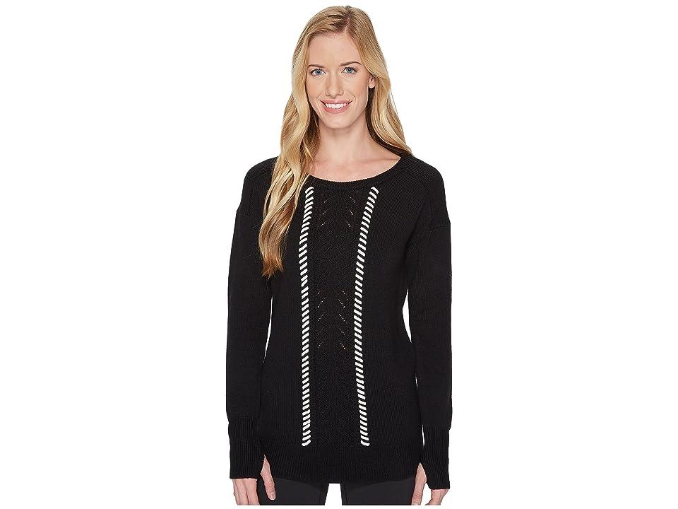 Blanc Noir Pointelle Sweater (Black) Women