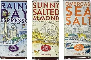 Seattle Chocolates Seasons Bar Trio 3 x 2.5 oz