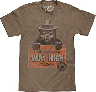 Tee Luv Smokey Bear Shirt - Fire Danger Very High Today Vintage T-Shirt