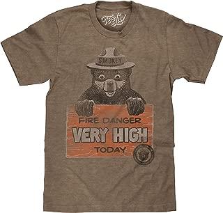 Smokey Bear Shirt - Fire Danger Very High Today Vintage T-Shirt