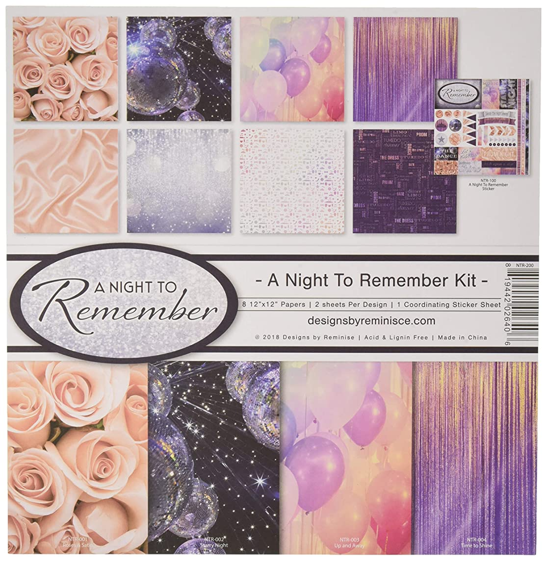 Reminisce (REMBC) NTR-200 A Night to Remember Scrapbook Collection Kit, Multi Color Palette