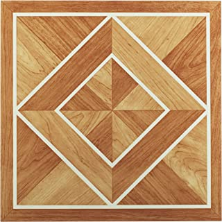 Achim Home Furnishings FTVWD20520 Nexus 12-Inch Vinyl Tile, Wood White Border Classic Inlaid Parquet, 20-Pack, 12x12 Inch