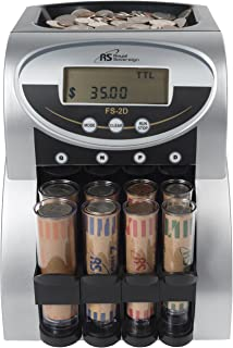 Royal Sovereign 2 Row Electric Coin Counter With Patented Anti-Jam Technology and Digital Counting Display (FS-2D)