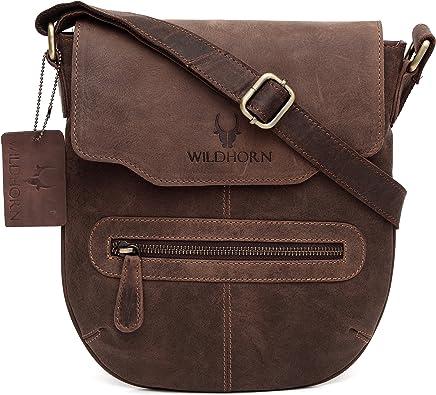 WildHorn Men's Vintage Leather Messenger Bag Free Size Brown