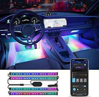 Govee Interior Car Lights, RGBIC Car Lights with Smart APP Control, Music Sync Mode, 30 Scene Options, 16 Million Colors, DIY Mode, 2 Lines Design LED Car Lights for Cars, SUVs, DC 12V