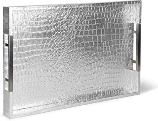 """Home Redefined Beautiful Modern Elegant 18""""x12"""" Silver Rectangle Glossy.."""