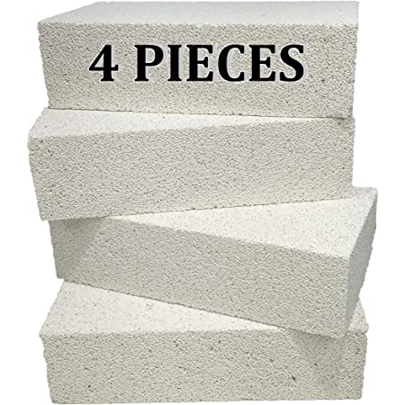 Forges Kilns HFK-25 Insulating FireBrick 2500F 2.5 x 4.5 x 9 IFB Box of 3 Fire Bricks for Fireplaces Pizza Ovens