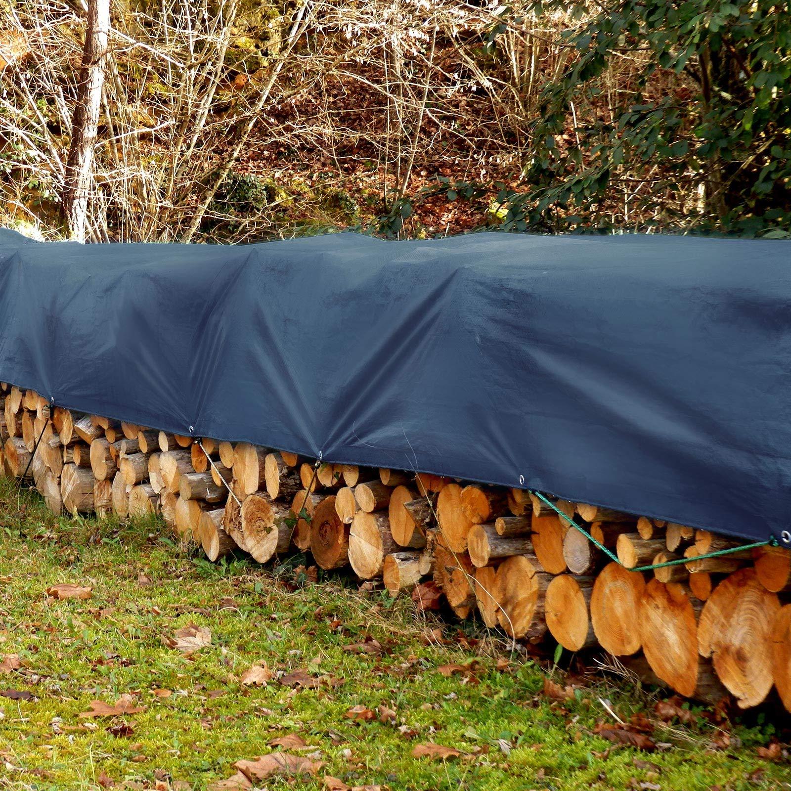 Casa pura® - Lona resistente, de alta densidad, de polietileno tejido y doble laminado – 90 g/m² – 100% impermeable y con protección contra rayos ultravioleta, azul: Amazon.es: Bricolaje y herramientas