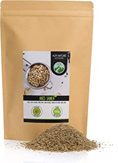 Anís entero, semillas de anís, 100% natural, té de anís por supuesto sin aditivos, vegano (500 GR)