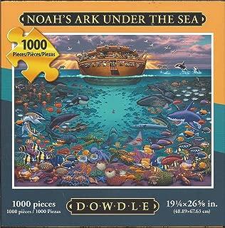 """Dowdle Folk Art Puzzle Noah's Ark Under Sea 1000 Pieces NEW 19 ¼"""" x 26 5/8"""""""