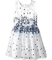 Nanette Lepore Kids - Embroidered Blue Floral Dress (Little Kids/Big Kids)