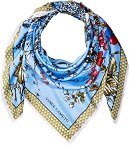 Wild Flowers Twill Square Scarf