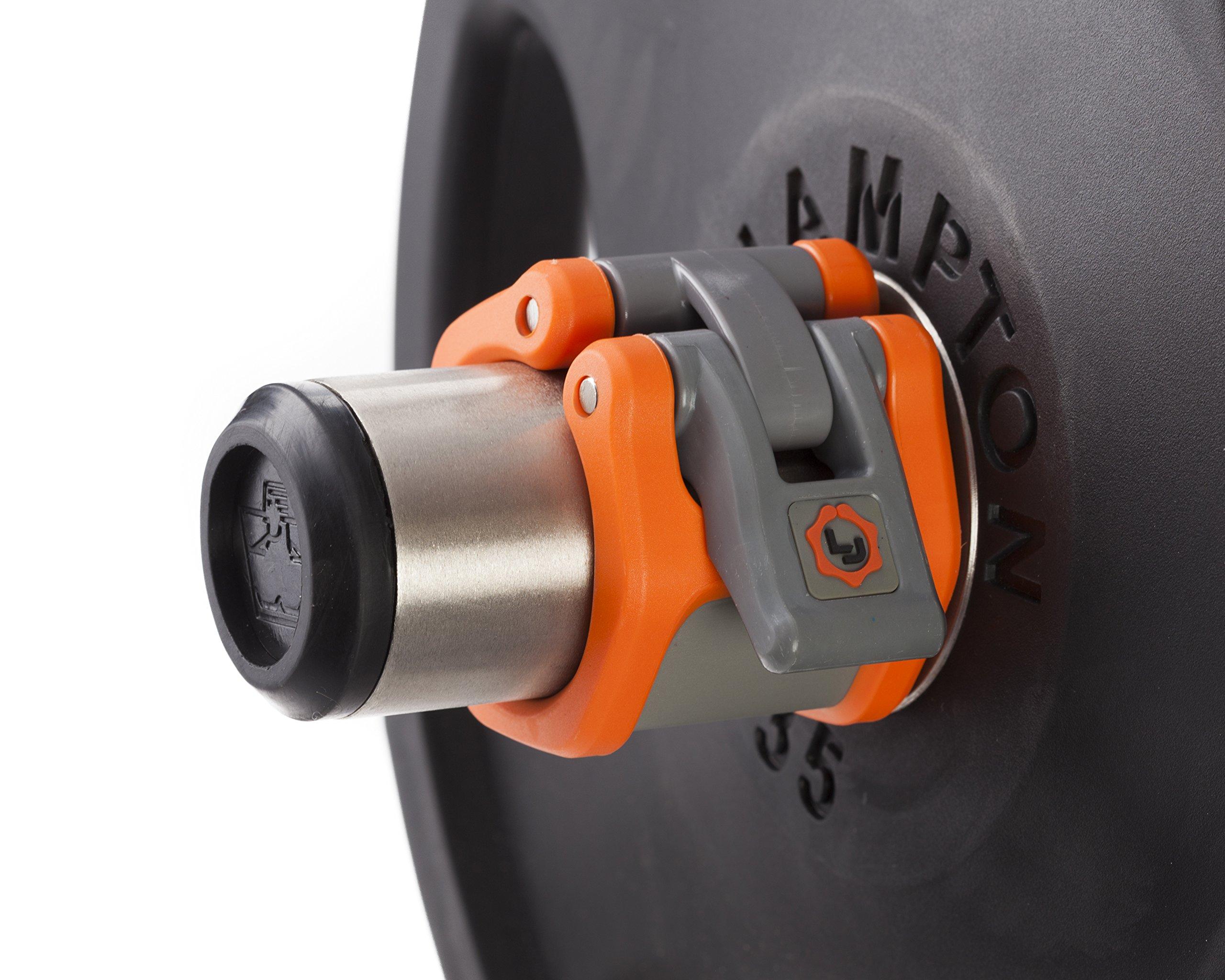 Lock Jaw Olympic Barbell Collar Orange