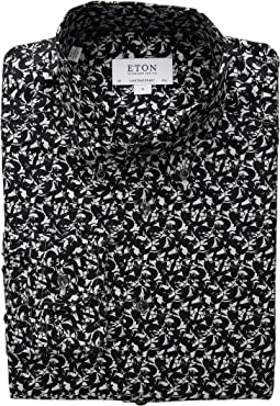 Slim Fit Fox Print Button Down Shirt