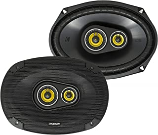 $92 » Kicker CS Series 150 Watt 6 x 9 Inch Car Audio Coaxial Speaker Pair, Yellow (Renewed)
