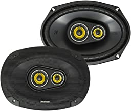 $93 » Kicker CS Series 150 Watt 6 x 9 Inch Car Audio Coaxial Speaker Pair, Yellow (Renewed)