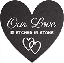Etched Granite Heart Our Love