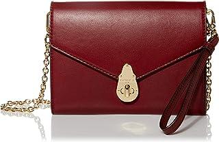 Calvin Klein Women's Soft Lock Positano Leather Chain Organizational Crossbody