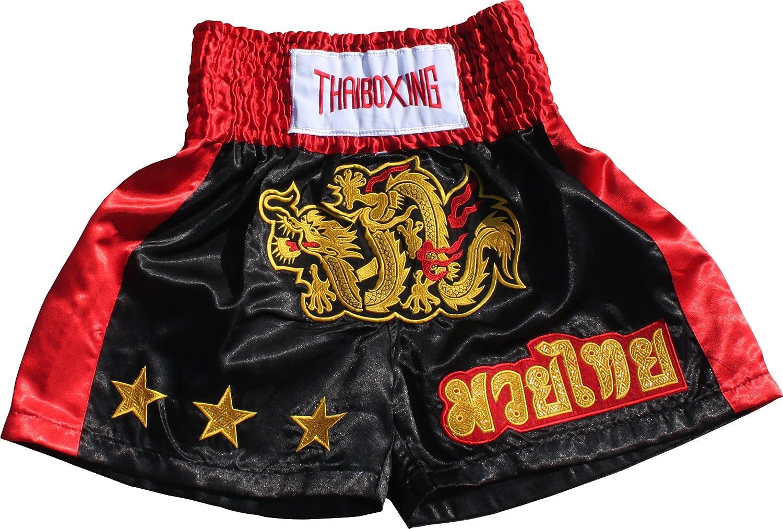 Full Funk Simple Satin Muaythai Fighting Dragon Shorts Muay Thai Kickboxing