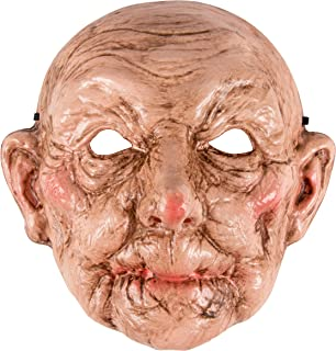 Halloween Mask - Old Lady Mask Costume Accessory, Creepy Granny Look for Men Women Teens
