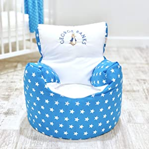 Childrens Kids Toddler PRE Filled Personalised Bean Bag Chair SEAT Girls Boys  Next Day Dispatch