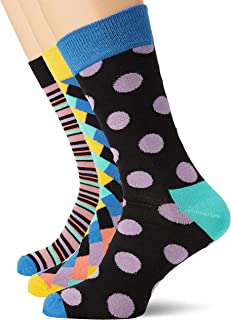 HS by Happy Socks HS Big Dot 3-Pack Socks, Calcetines para Hombre
