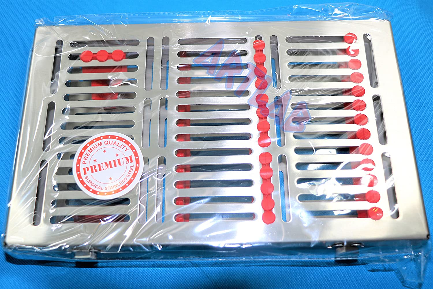 German Autoclave Sterilization Cassette Rack Branded goods with shop Box Butto Tray